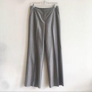 St. John Wide Leg Pants Trousers Metallic Gray 6